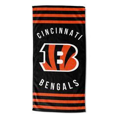 Bengals Stripes Beach Towel,