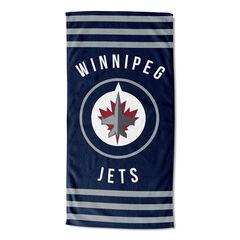 Winnipeg Jets Stripes Beach Towel,