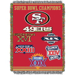 49ers Commemorative Series Throw,