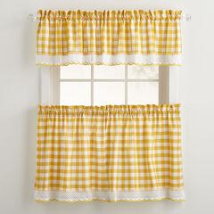 Buffalo Check Tier Curtain Set,