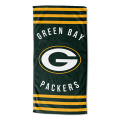 Packers Stripes Beach Towel,