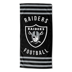 Raiders Stripes Beach Towel,