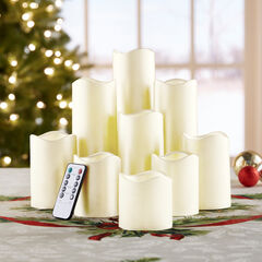 Remote-Controlled LED Candles, Set of 9,