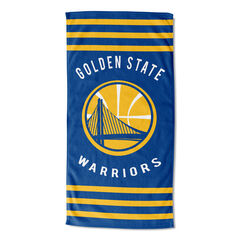 Warriors Stripes Beach Towel,