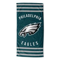 Eagles Stripes Beach Towel,