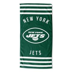 Jets Stripes Beach Towel,