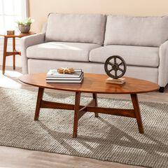 Rhoda Oval Midcentury Modern Coffee Table,
