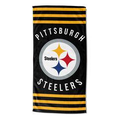 Steelers Stripes Beach Towel,