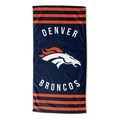 Broncos Stripes Beach Towel,