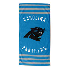 Panthers Stripes Beach Towel,