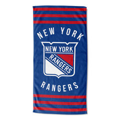 Rangers Stripes Beach Towel,