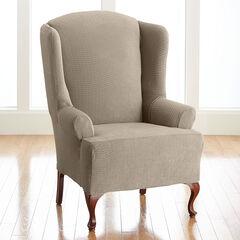BH Studio Brighton Stretch Wing Chair Slipcover,