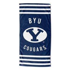 BYU Stripes Beach Towel,