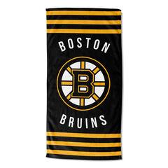 Bruins Stripes Beach Towel,