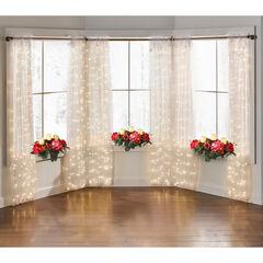 "84"" Pre-Lit Rod-Pocket Curtain Panel,"