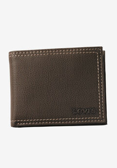 Leather Slimfold Wallet by Levis®, BROWN