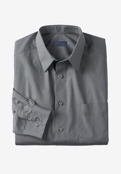 KS Signature No Hassle® Long-Sleeve Dress Shirt, STEEL