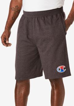 Race Stripe Logo Shorts by Champion®, GRANITE