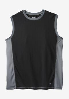 Muscle Swim Shirt by KS Island™, BLACK STEEL