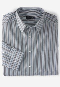 No Hassle® Long-Sleeve Dress Shirt by KS Signature®, ROYAL BLUE STRIPE