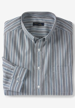 No Hassle® Long-Sleeve Button-Down Collar Dress Shirt by KS Signature®,