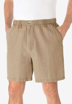 "Knockarounds® 6"" Pull-On Plain Shorts, KHAKI"