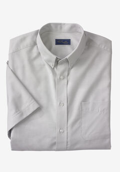 Wrinkle-Resistant Short-Sleeve Oxford Shirt by KS Signature®,