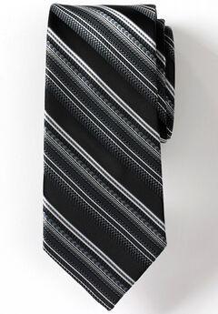 Classic Stripe Tie, BLACK STRIPE