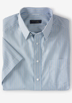 Modern Fit Broadcloth Flex Short-Sleeve Dress Shirt by KS Signature,