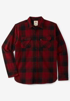 Levi's® Plaid Flannel Shirt, CABERNET