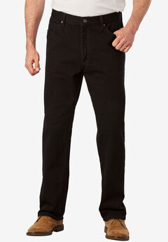 Straight Leg Regular Fit Jeans by Lee®, DOUBLE BLACK