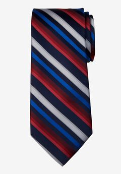 Classic Stripe Tie, RED MULTI STRIPE
