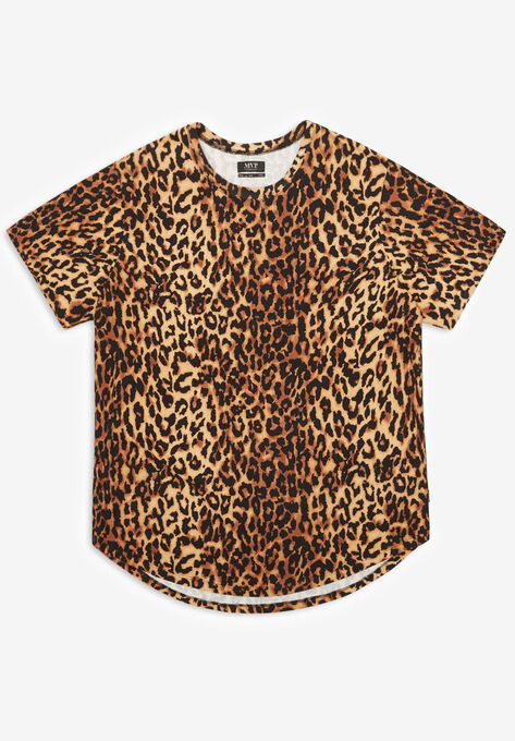 daac07adccbd MVP Collections® Animal Print Curved Hem Tee| Big and Tall All T ...
