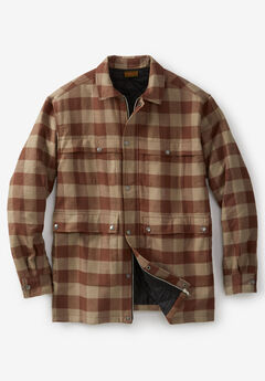 Renegade Shirt Jacket by Boulder Creek®, DARK KHAKI CHECK