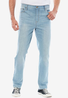 Liberty Blues® Straight Fit 5-Pocket Stretch Jeans,