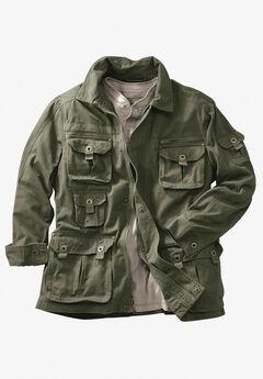Multi-Pocket Twill Jacket,