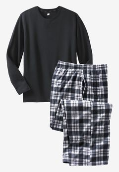 Hanes® X-Temp® Pajama Set, BLACK