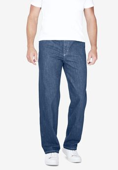 Liberty Blues® Loose-Fit Side Elastic 5-Pocket Jeans,