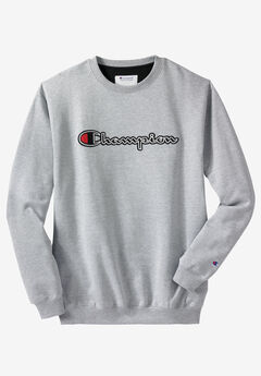 Script Embroidered Fleece Crewneck Sweatshirt by Champion®,