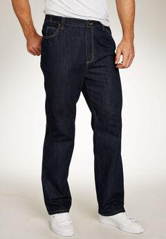 Liberty Blues® Loose-Fit Side Elastic 5-Pocket Jeans,