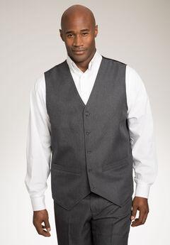 KS Signature Easy Movement® 5-Button Suit Vest, CHARCOAL PINDOT