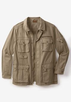 Boulder Creek® Multi-Pocket Twill Jacket, DARK KHAKI