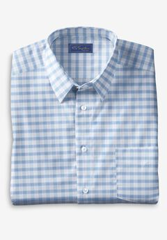 KS Signature No Hassle® Long-Sleeve Dress Shirt, LIGHT GREY PLAID