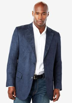 Microsuede Sport Coat by KS Signature, NAVY