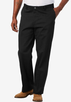 Relaxed Fit Pleat Front Pants by Lee®, BLACK