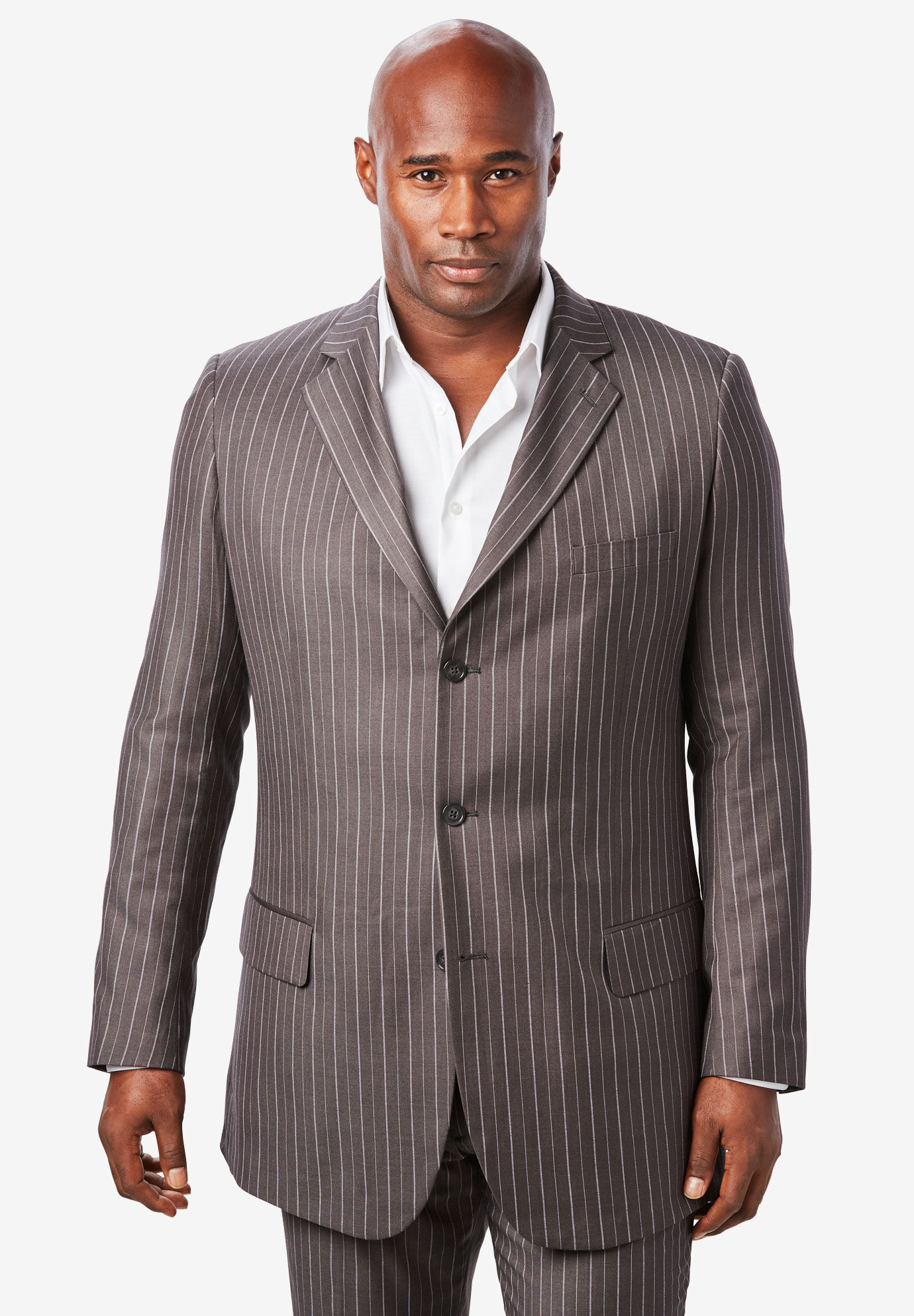 KingSize Mens Big /& Tall Three-Button Faux Leather Blazer