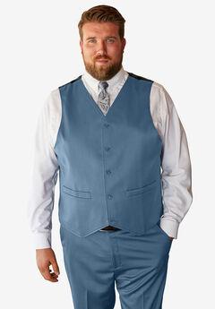 KS Signature Easy Movement® 5-Button Suit Vest, SLATE BLUE