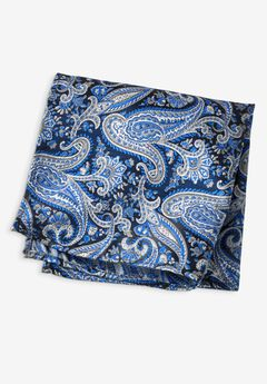 KS Signature Pocket Square, COBALT BLUE PAISLEY