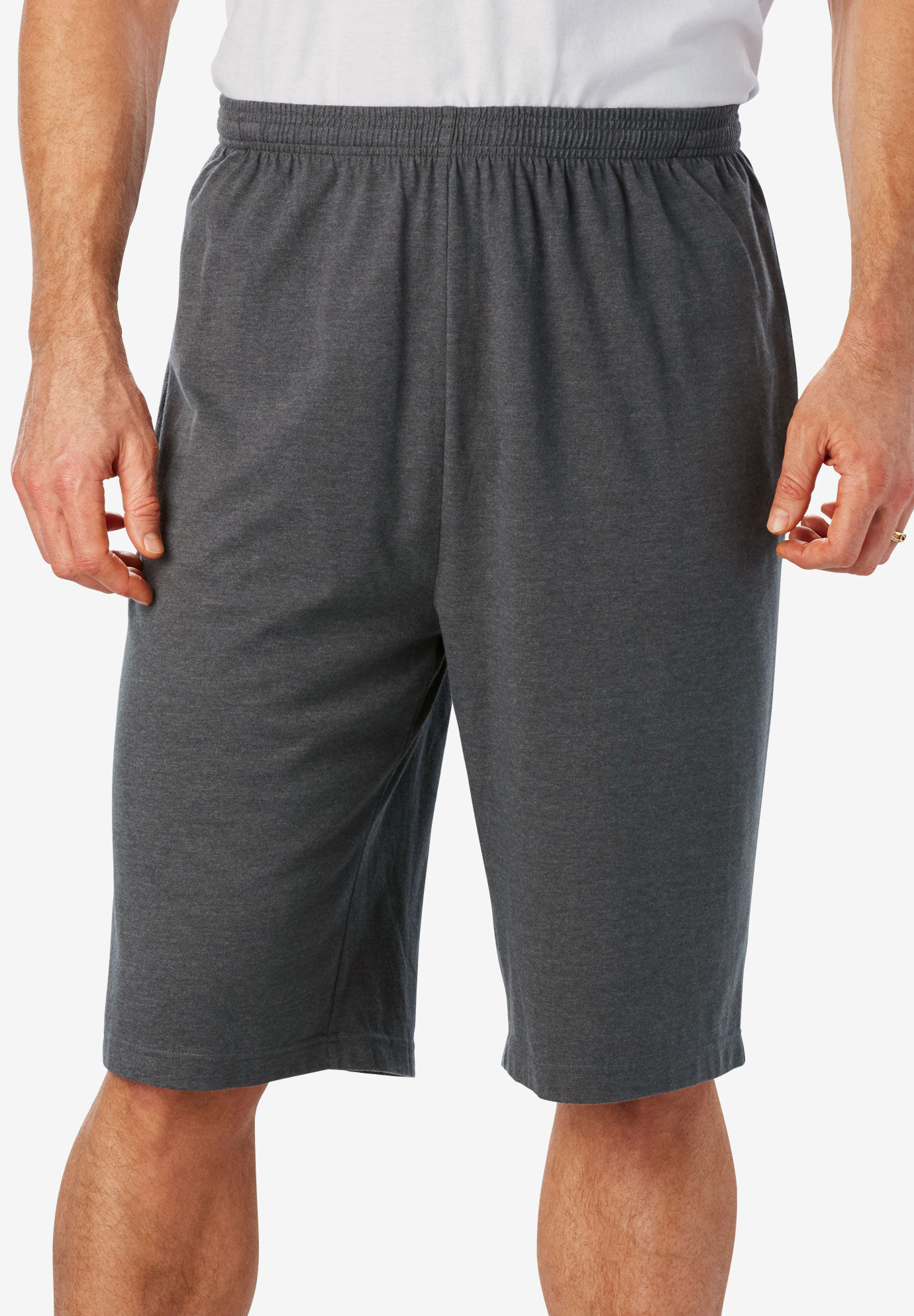 Mens Big & Tall Relaxed Fit Cotton Cargo Shorts KHAKI Waist Size 52