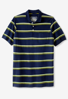 Liberty Blues™ Longer-Length Piqué Polo, Solids & Stripes,